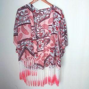 EST 1946 Tassel Paisley Kimono Size S